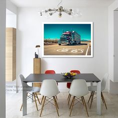Route 66 decor Garage decor American truck classic car on California route 66 arizona photography/large art/kids room art/men office by PHOTOFORWALL on Etsy
