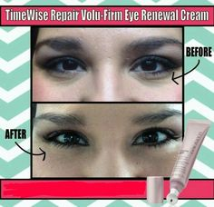 Timewise Repair Volu-Firm Eye Renewal Cream by Mary Kay!!!  Check out the results!   www.marykay.com/kaseyedwards