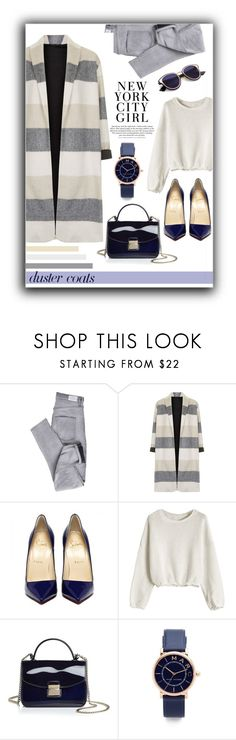 """Duster coat NY"" by puljarevic ❤ liked on Polyvore featuring Cheap Monday, Topshop, Furla, Marc Jacobs, H&M, chic, NewYorkStyle, CasualChic and DusterCoats"