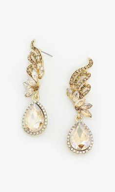 Crystal Tiffany Earrings in Champagne