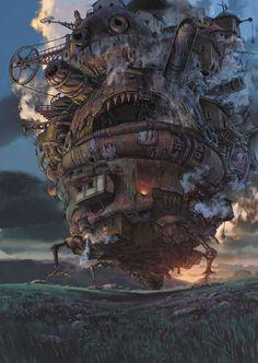 Hayao Miyazaki. Howl's moving castle. It's sorta tiny,lol.