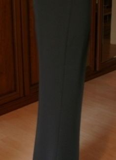 Damenschlaghose, schwarz gestreift, Gr. 34
