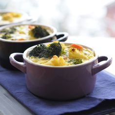 Mini Veggie Cocottes. High Protein. Low Carb. Healthy side or main dish.