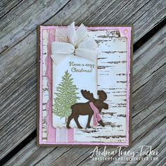Christmas Moose, Stampin Up Christmas, Stamping Up Cards, Christmas Inspiration, Xmas Ideas, Winter Cards, Time To Celebrate, Scrapbook Cards, Scrapbooking