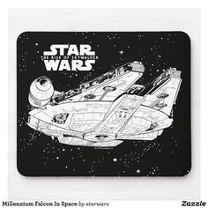 Millennium Falcon In Space Mouse Pad Star Citizen, Space Battles, Star Wars Merchandise, Hope Symbol, Game Concept Art, Star Wars Gifts, Custom Mouse Pads, Millennium Falcon, Star Wars Art