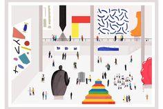 Rose Blake | Kerry Hyndman | MH Jeeves | Illustrator | Central Illustration Agency #portrait #people #face #illustration #illustrator #figure #museum #small #scene #painting