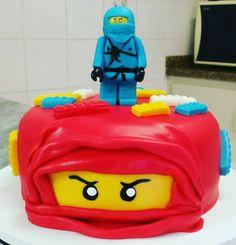 Bolo Lego Ninjago Bolos da Lu www.facebook.com.br/bolosdalumariano