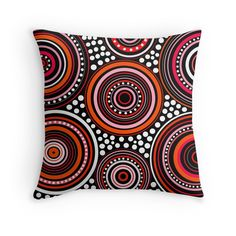 'Mandala Orange' Throw Pillow by JohannaDesign Orange Throw Pillows, Home Deco, Mandala, Cushions, Throw Pillows, Toss Pillows, Pillows, Home_decor