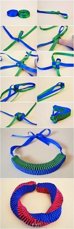 ribbon necklace ...: