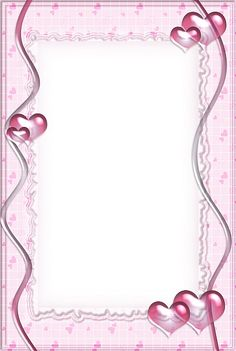 Pink Transparent Frame with Hearts Cool Powerpoint Backgrounds, Printable Lined Paper, Boarders And Frames, Bullet Journal Banner, Baby Frame, Framed Wallpaper, Borders For Paper, Frame Clipart, Paper Frames