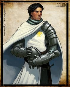"""Wheel of Time - Galad Damodred - if Jordan was making an attempt to relate the """"Children of the Light"""" to Crusaders or Templars - he did not succeed - but this guy was a good character despite the odd description they kept making of him WoT"""