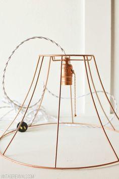 copper wire lampshade - Google Search