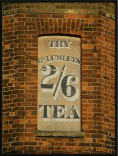 Jericho tea sign ~ Historic Lumley's corner shop under threat of demolition!!!