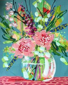Dots and dashes and roses. Is it weird that I want to glitter it too? by cristina Scrapbooking Image, Tableau Design, Guache, Abstract Flowers, Acrylic Art, Painting Inspiration, Art Lessons, Painting & Drawing, Flower Art