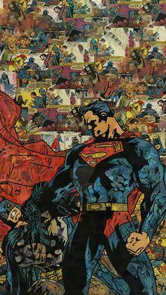 Batman v superman iPhone Wallpapers Superman Wallpaper, Marvel Wallpaper, Iphone Wallpaper Hd Original, Iphone Wallpapers, Comic Books Art, Comic Art, Superman Comic, Batman Vs, Pop Art Wallpaper