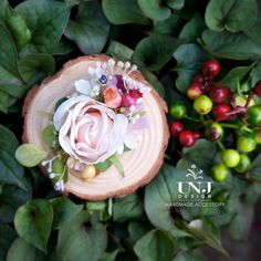 Wedding flower hairclip, Bridal hair accessories, Wedding hair accessories, Bridal hairclip, Flower Brooch by UNJdesign on Etsy