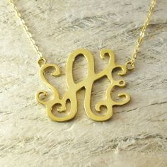 name necklace monogram necklace name by Handmadenamenecklace, $20.99