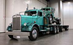Ol Blue - 1955 Kenworth at the 2011 Great American Truck Show in Las Vegas. #trucks #trucking #customtrucks