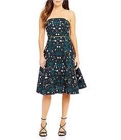 Keepsake Night Dance Midi Dress #Dillards