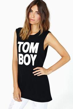 Tom Boy Muscle Tee by Nasty Gal