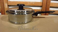 West Bend Lifetime Stainless Steel T304CC 2 Quart Saucepan with Lid Cookware #Lifetime