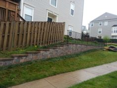 How could you not love this attractive retaining wall right beside your house in the #yard. Repin and share with your friends! | Reston, VA | Drainage & Erosion Solutions