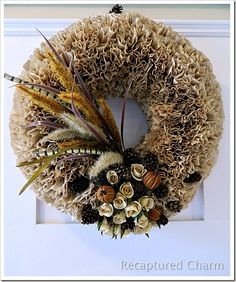 Fall Coffee Filter Wreath - complete tutorial! /v