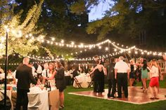 Elegant Outdoor Wedding Reception in Washington DC: Deirdre + Matt