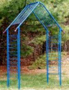 Build an arch using old baby bed rails.
