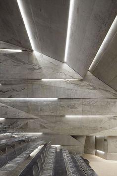 RECESSED STRIP LED LIGHTING l Konzerthaus Blaibach, Deutschland l  PETER HAIMERL ARCHITEKTUR