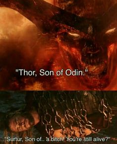 Thor has gotten so sassy after spending time on earth