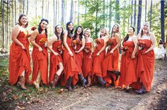 Boot fun! - Google Image Result for http://www.thepreppychicblog.com/wp-content/uploads/2012/01/deanna-wedding-orange-bridesmaid-dresses-cowboy-boots.png