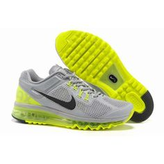 timeless design 21be2 48c6b Dealextreme Nike Air Max 2013 Mens Running Shoes Yellow Light Grey HB014 Nike  Max, Nike