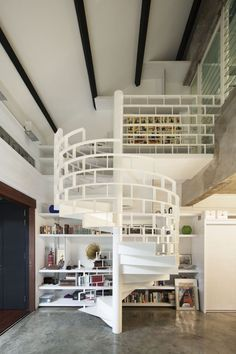 Chic Industrial Brick Loft House in Singapore by FARM
