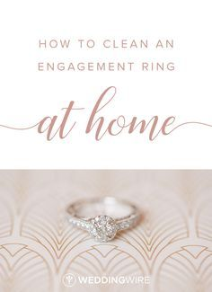 How to Clean an Engagement Ring at Home -You wear your engagement ring basically 24/7, so it's bound to need cleaning sometimes! Read exactly how to clean your engagement ring at home on WeddingWire! {Priscilla Thomas Photography}