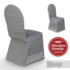 Spandex rouge chair cover with foot pockets ruffled with high quality durable elastic. Spandex Chair Covers, Floor Chair, Silver, Furniture, Collection, Color, Ideas, Home Decor, Decoration Home