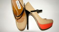 Steve Madden nude shoes