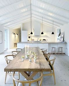 I choose to see 2020 with lots of light and big smiles in my mind 💙 . White Oak Floors, Little Houses, Home Fashion, Scandinavian Design, Living Area, Interior Inspiration, Dining Table, House Design, Interior Design