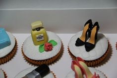 Birthday Cosmetic and Fashion Cupcakes 8