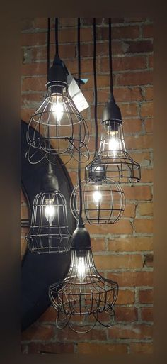 Industrial style lighting.