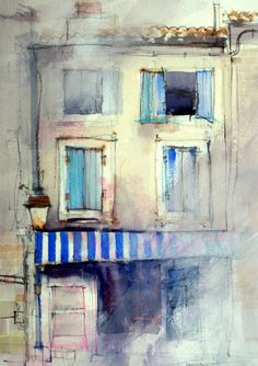 Aix en Provence, John Lovett, watercolour.