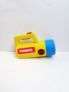 Playskool Flashlight with Red, Green, and White Lights Vintage 1980's by TimelessToyBox on Etsy
