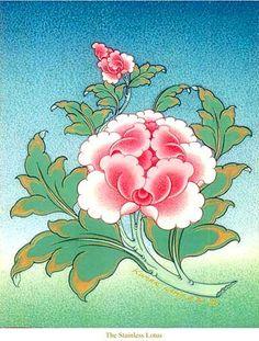 the stainless lotus Japanese Flowers, Japanese Art, Korean Art, Asian Art, Painting Inspiration, Art Inspo, Thangka Painting, Tibetan Art, India Art