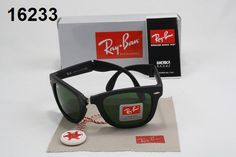 Ray Ban Wayfarer Folding Ray-Ban Wayfarer Sunglasses Lens Green Frame Black
