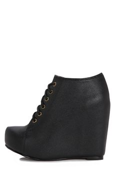 b6cdf3bcb315 Jeffrey Campbell Shoes 99-TIE The Vault in Black Jeffrey Campbell