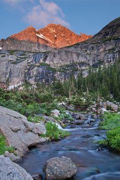 Alpenglow - Black Lake Drainage - Rocky Mountain National Park - Colorado Before Sunrise, Rocky Mountain National Park, Rocky Mountains, One Pic, Wander, Colorado, National Parks, River, Prints