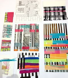 Weaved paper and textiles  at the Manchester Met Degree Show