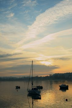 Boat; sunset