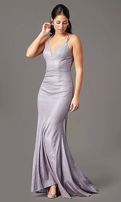 Shop long sparkly prom dresses in glitter knit at PromGirl. Glitter-knit long dresses for prom, formal evening dresses, and v-neck sparkly prom dresses with open backs and trains. Sparkly Prom Dresses, Open Back Prom Dresses, V Neck Prom Dresses, Plus Size Prom Dresses, Homecoming Dresses, Party Dresses, Long Formal Gowns, Long Prom Gowns, Formal Prom
