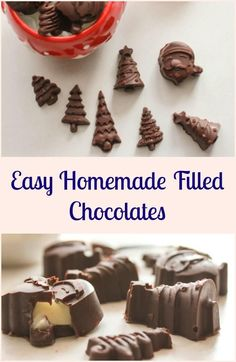 Easy Homemade Filled Chocolates, a delicious homemade candy recipe, chocolate molds, make this an easy to make after dessert treat.a creamy chocolate filling, perfect for chocolate molds. A yummy treat.